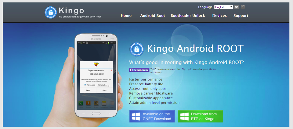 Android root kingo