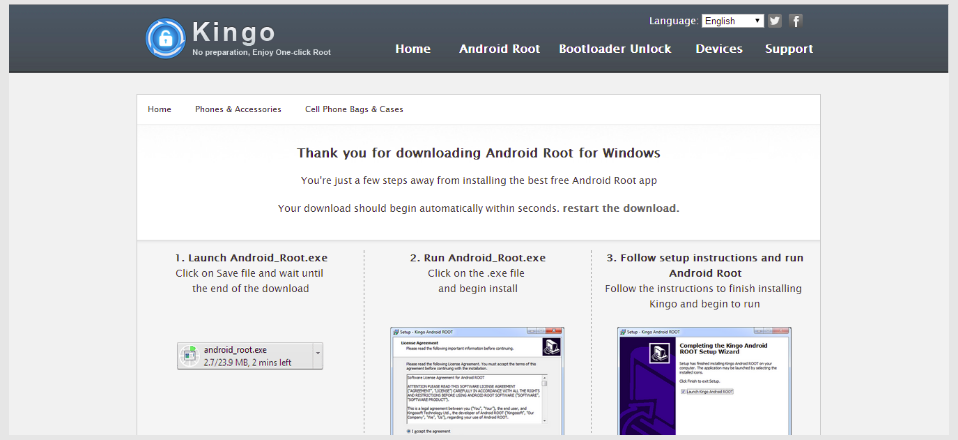 Android root kingo 1